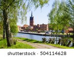 port at elde river  grabow ... | Shutterstock . vector #504114628