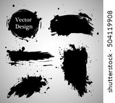 large grunge elements set.... | Shutterstock .eps vector #504119908
