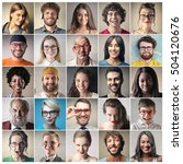group of portraits | Shutterstock . vector #504120676