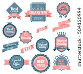 web stickers  banners and... | Shutterstock .eps vector #504120994