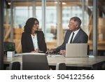 talking strategy inside the... | Shutterstock . vector #504122566