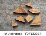 tangram puzzle wait for... | Shutterstock . vector #504123334