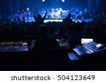 soundman working on the mixing... | Shutterstock . vector #504123649