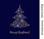 christmas tree  merry christmas ... | Shutterstock .eps vector #504125908