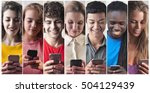 people chatting with smart phone | Shutterstock . vector #504129439