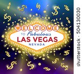 vector las vegas sign on the... | Shutterstock .eps vector #504130030