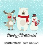 merry christmas  happy... | Shutterstock .eps vector #504130264