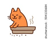 Funny Cat Pooping In Litterbox...