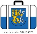 flag of legnica with coat of... | Shutterstock . vector #504135028