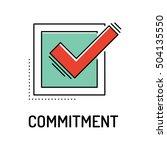 commitment line icon | Shutterstock .eps vector #504135550