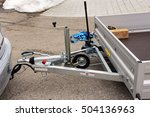 trailer coupling with trailer... | Shutterstock . vector #504136963
