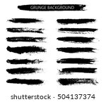 hand painted brush strokes... | Shutterstock .eps vector #504137374