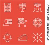 set of project management icons ... | Shutterstock .eps vector #504152620