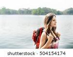 backpacker casual travel... | Shutterstock . vector #504154174