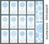 calendar 2017 new year...   Shutterstock .eps vector #504160639