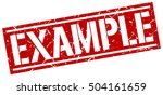 example. grunge vintage example ... | Shutterstock .eps vector #504161659