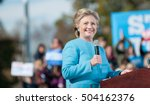 Hillary Clinton Speaks At St....