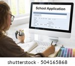 Small photo of School Application Document Registration Form Concept