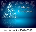 christmas card merry christmas... | Shutterstock . vector #504166588