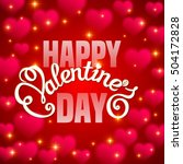 valentine's day card with... | Shutterstock . vector #504172828