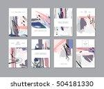 set of creative universal... | Shutterstock .eps vector #504181330