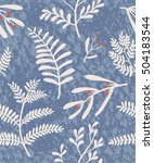 trendy beautiful floral... | Shutterstock .eps vector #504183544