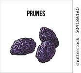 pile of dried prunes  sketch...   Shutterstock .eps vector #504186160