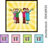 toasting | Shutterstock .eps vector #50418925