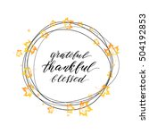 happy thanksgiving day card ...   Shutterstock .eps vector #504192853