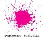 set of abstract ink splash...