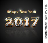 new 2017 year golden and... | Shutterstock .eps vector #504197446