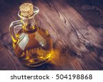 view top of olive oil container ...   Shutterstock . vector #504198868