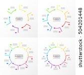 vector circle infographic set.... | Shutterstock .eps vector #504201448