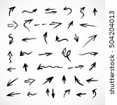 hand drawn arrows  vector set | Shutterstock .eps vector #504204013