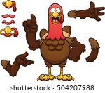 cartoon turkey. vector clip art ... | Shutterstock .eps vector #504207988