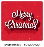 merry christmas greeting card.... | Shutterstock .eps vector #504209920