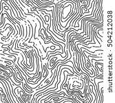seamless topographic contour... | Shutterstock .eps vector #504212038