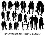 pairs silhouettes | Shutterstock .eps vector #504216520