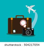 baggage of travel and tourism ... | Shutterstock .eps vector #504217054