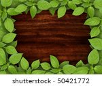 Old Wooden Background With...