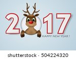 2017 happy new year background. ... | Shutterstock .eps vector #504224320