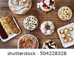 table with cake  pie  cupcakes  ... | Shutterstock . vector #504228328