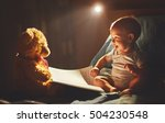 happy baby reading a book with... | Shutterstock . vector #504230548