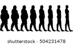 set  losing weight men  the... | Shutterstock .eps vector #504231478