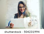 portrait of beautiful young... | Shutterstock . vector #504231994
