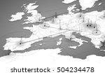 europe map big data... | Shutterstock .eps vector #504234478