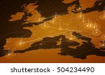europe map big data... | Shutterstock .eps vector #504234490