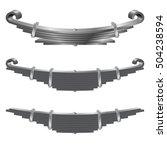 automobile leaf springs. vector ... | Shutterstock .eps vector #504238594