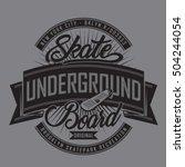 skate board typography  t shirt ... | Shutterstock .eps vector #504244054