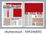 modern newspaper graphic design | Shutterstock .eps vector #504246850